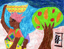 Artwork by a ninth grader from Senegal.