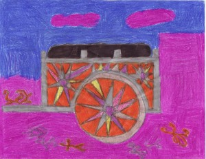 A traditional cart, contributed by a sixth grade student from Costa Rica.